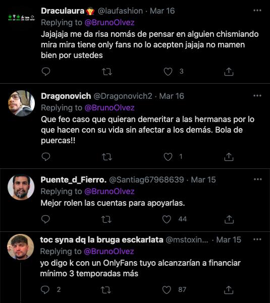 Bruno Olvez twitter comentarios