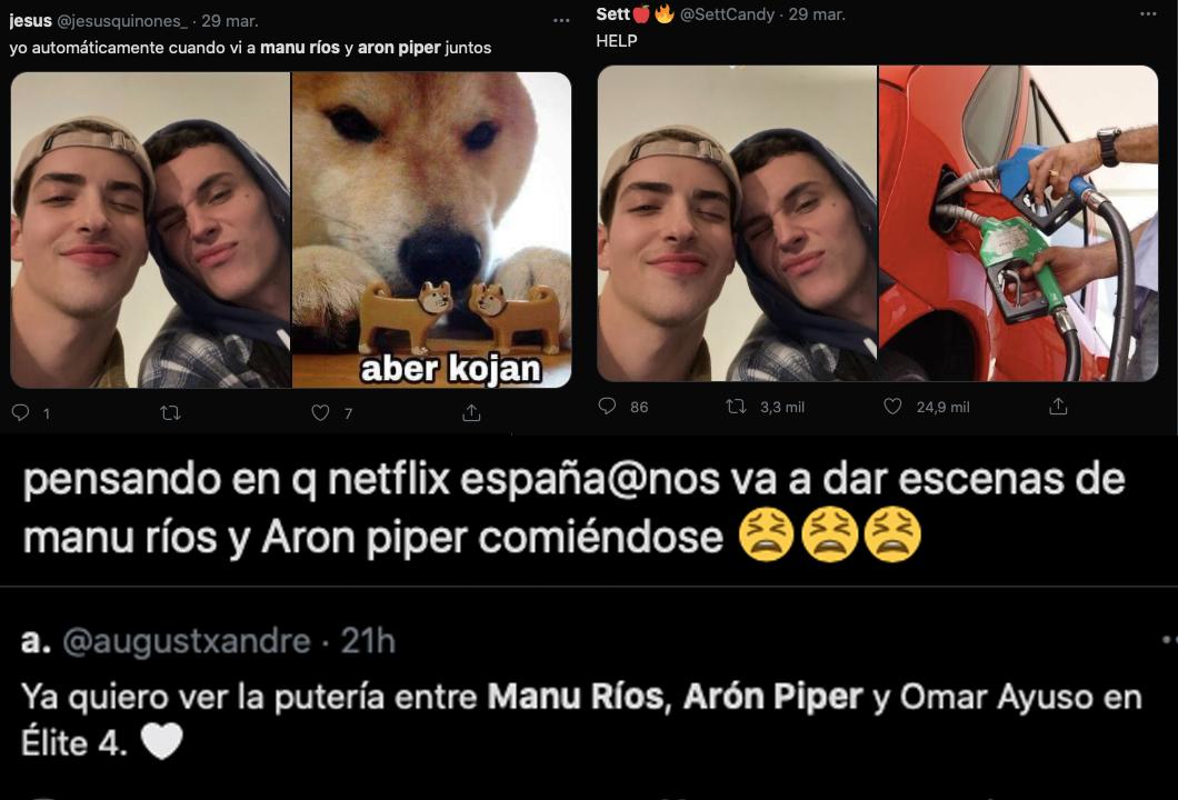 Manu Ríos y Arón Piper