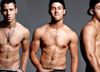 Famosos modelando calzones Nick Jonas
