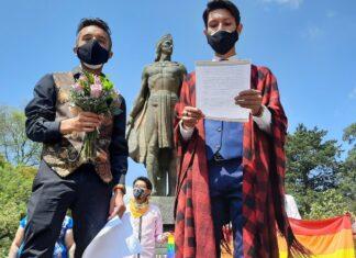 Pareja gay se casa en Edomex protestando a favor del matrimonio igualitario