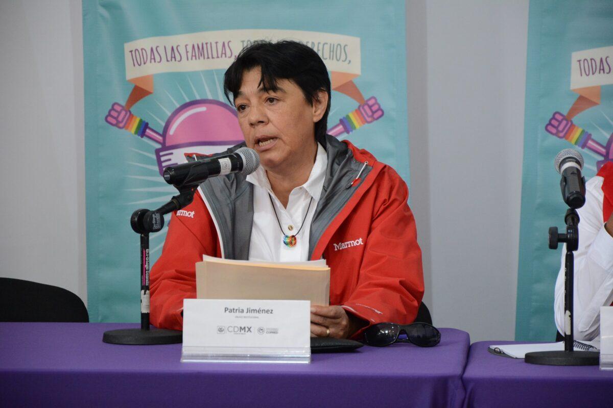 Patria Jiménes es una de las históricas mujeres y activistas LGBT+ mexicanas