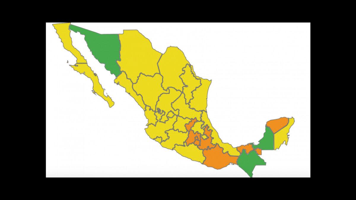 semáforo epidemiológico México marzo 2021