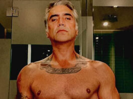 Alejandro Fernández sin camisa