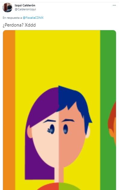 Imagen con la que la Fiscalía de CDMX representó la bisexualidad