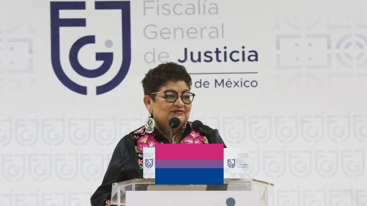Representación de la Fiscalía de CDMX sobre la bisexualidad