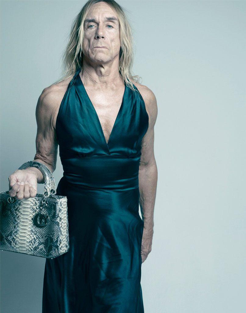 Iggy Pop vestido de mujer