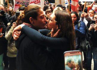 Mariana Gómez lesbiana detenida por beso a su esposa