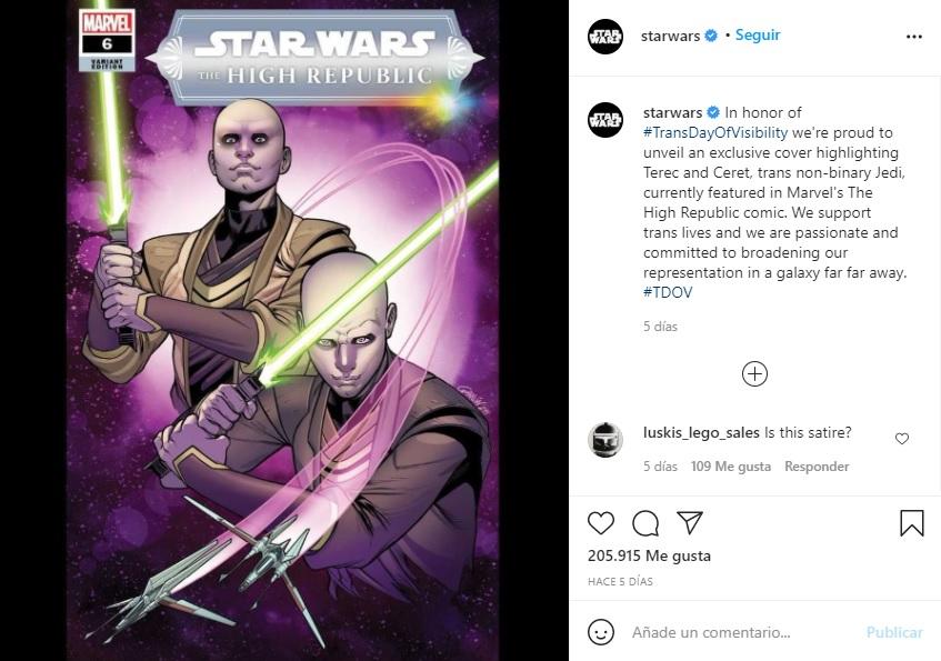 Star Wars presenta nuevos personajes LGBT+