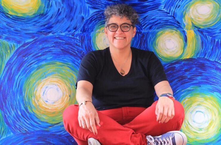 Elizabeth Castillo imparte el taller de sexo oral para hombres heterosexuales