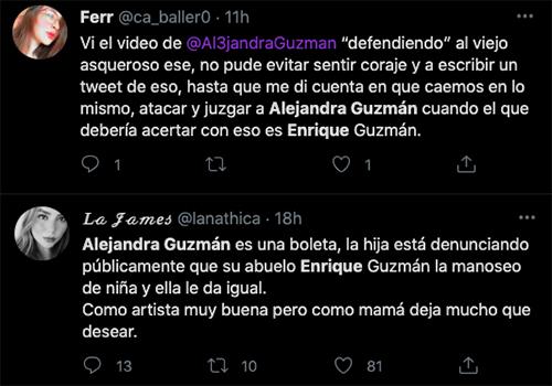 Alejandra guzman acusaciones twitter
