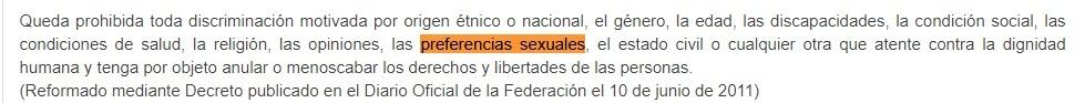 no discriminación hacia las personas LGBT+