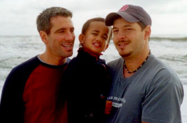 familia homoparental bebé metro