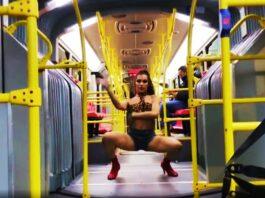 Personas no binarias bailan Vogue en transporte público