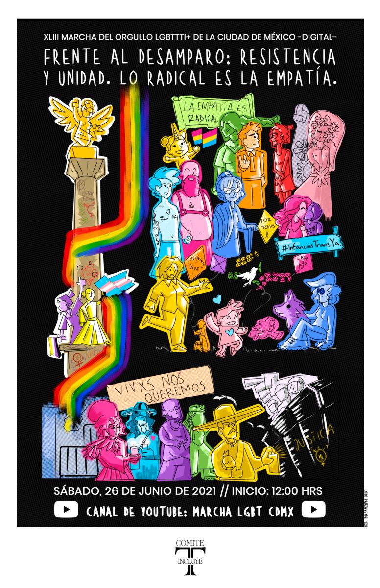 Cartel de la Marcha LGBT+ de CDMX