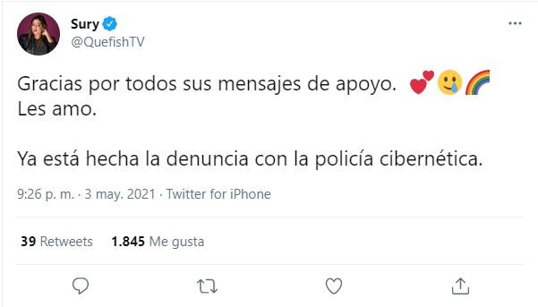 Amenazan a youtuber Sury Dorantes