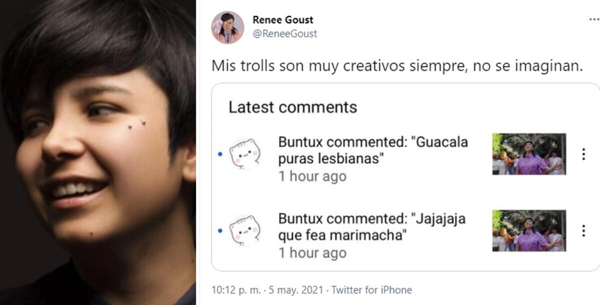 famosas ataques lgbtfobia Renee Goust