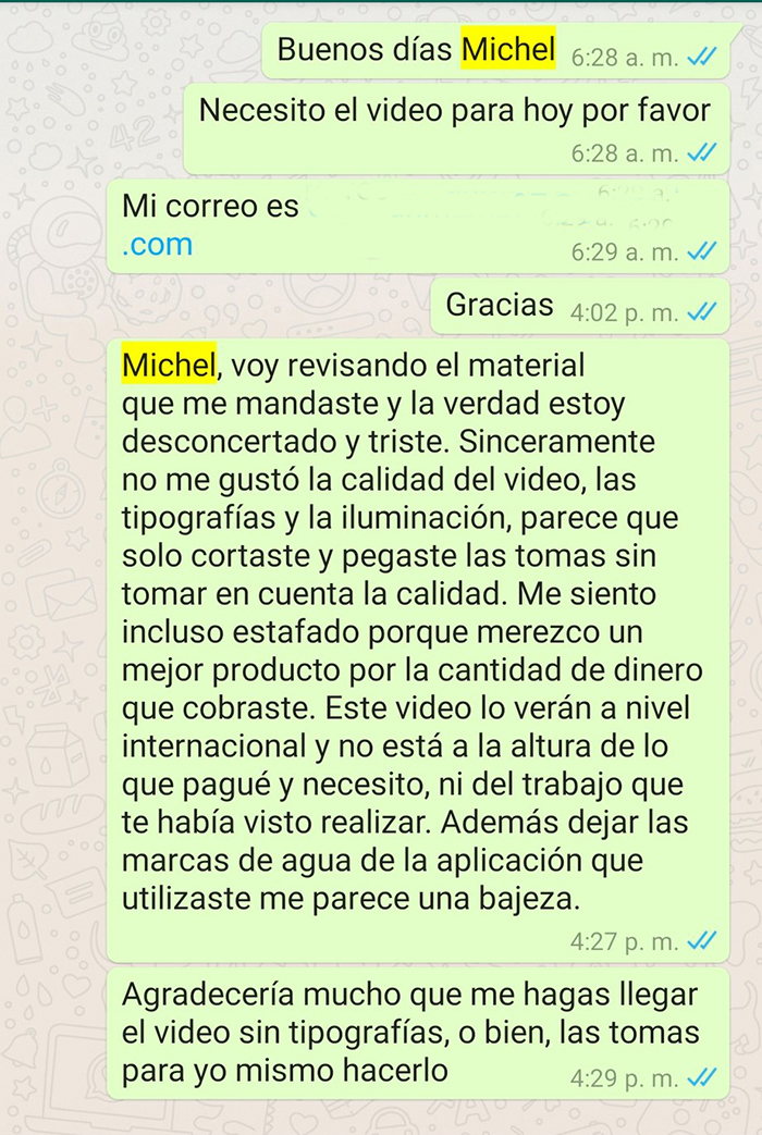 whatsapp michel m