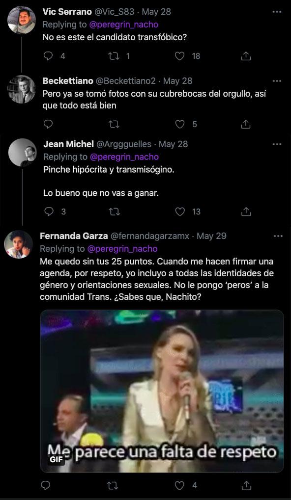 Twitter nacho peregrin belinda tansfobia