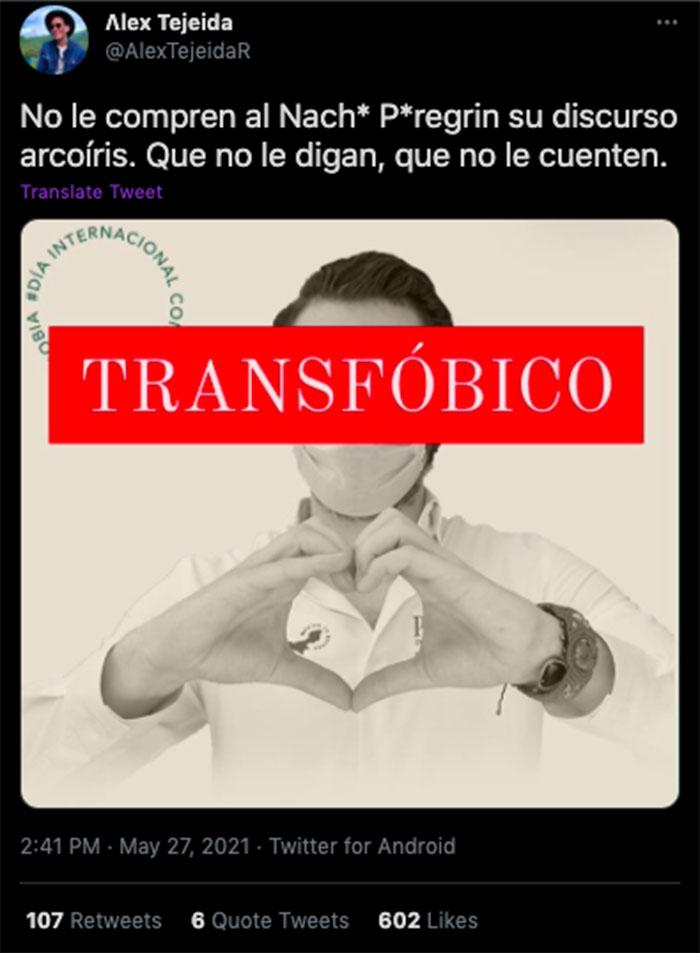 twitter transfóbico nacho peregrín