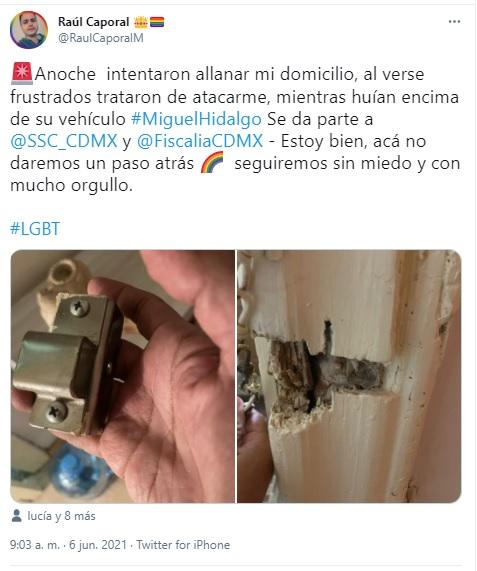 Allanamiento de la casa del activista Raúl Caporal