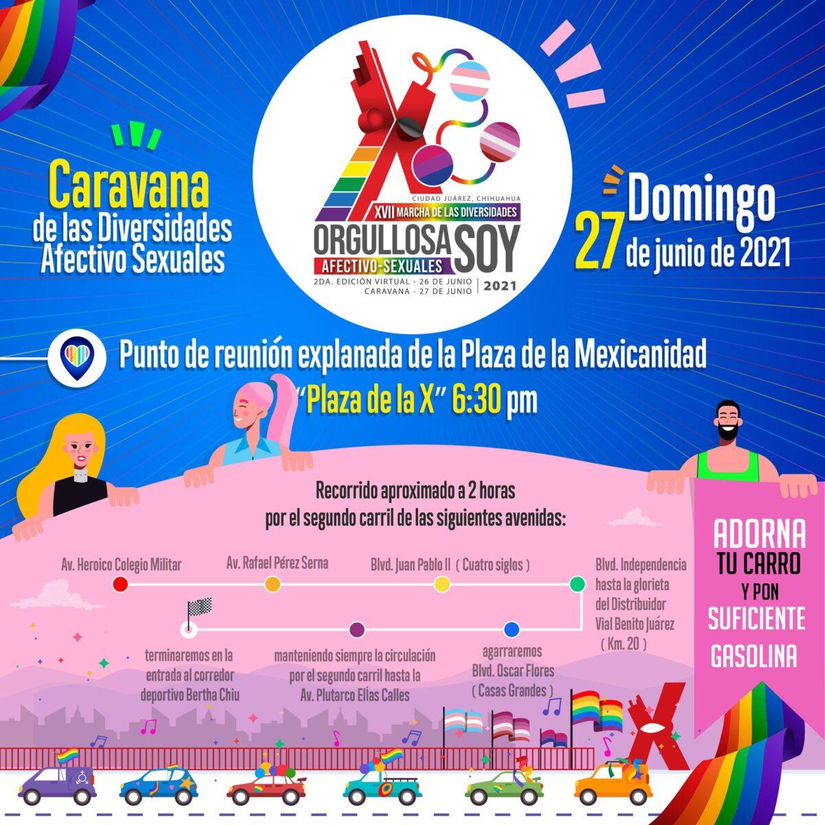 caravana diversidades afectivo sexuales 2021 ciudad juárez