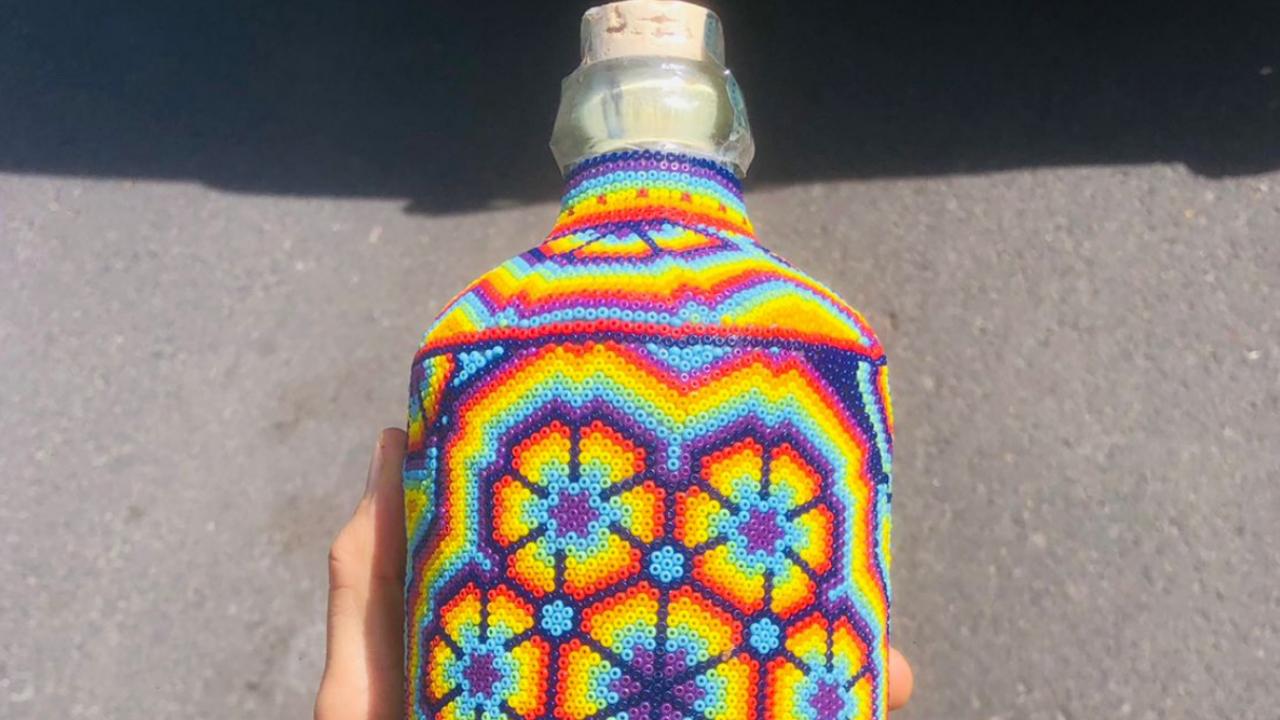 DiDi robo botellas arte huichol arcoíris mes orgullo lgbt+