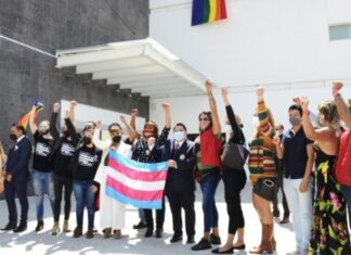 Fiscalía de Morelos despliega banderas LGBT+