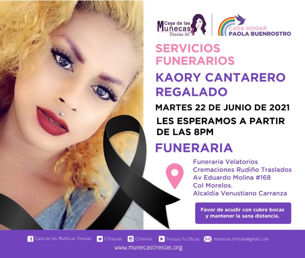 Kaory Cantarero mujer trans fallecida