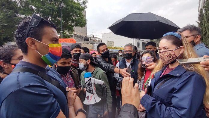protesta contra delito peligro de contagio cdmx