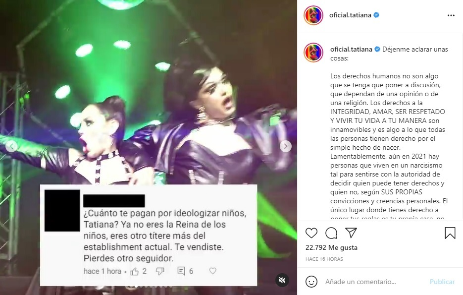 Critican a Tatiana por Be Proud,  dueto con Miss Velvetine