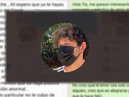 chico mexicano gay mensaje whatsapp tío homofóbico