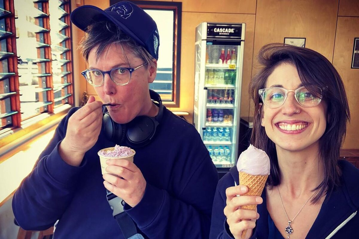 Hannah Gadsby y su esposa