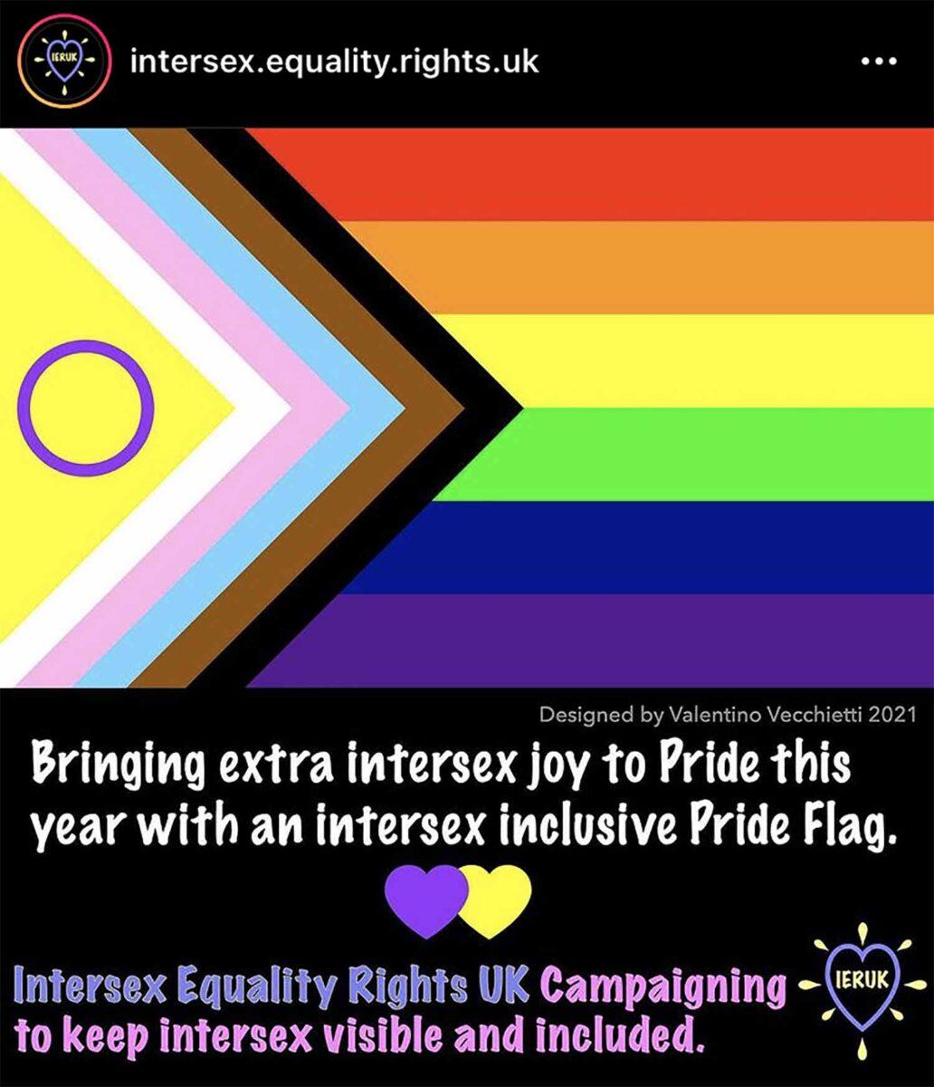 nueva bandera LGBT+ intersexual