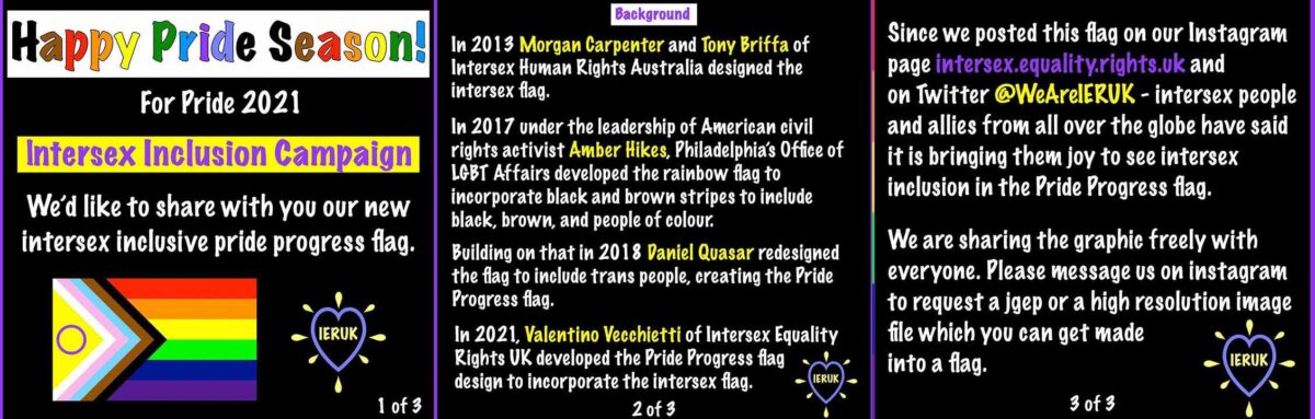 Bandera LGBT+ progress intersexuales