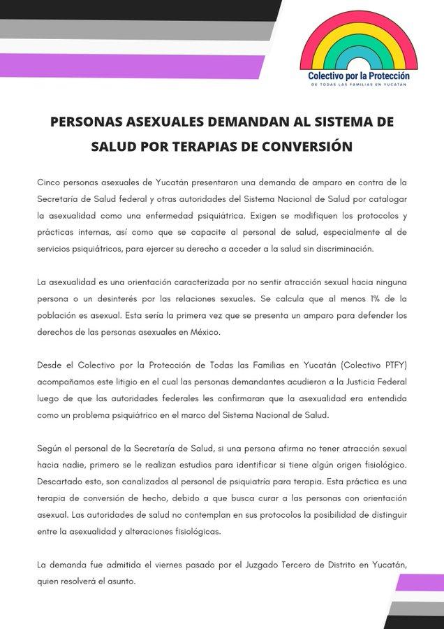 Personas asexuales presentan demanda contra el Sistema de Salud