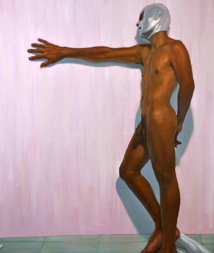 Pintura de El Santo gay