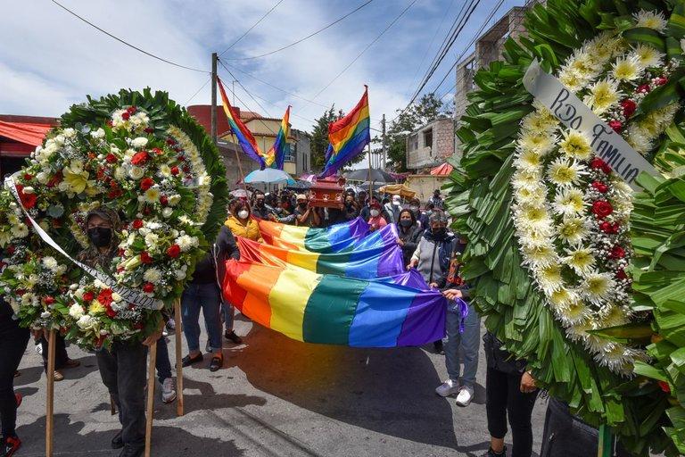 Funeral de la activista trans Aline Sánchez