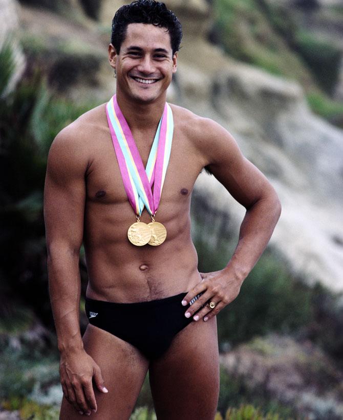 Greg Louganis ganó 4 medallas de oro en Juegos Olímpicos