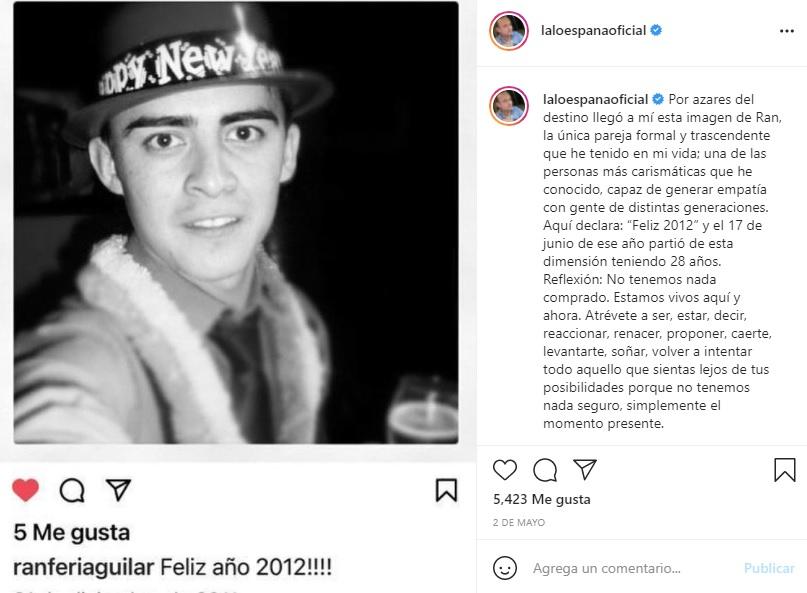 Salida del clóset del actor Lalo España