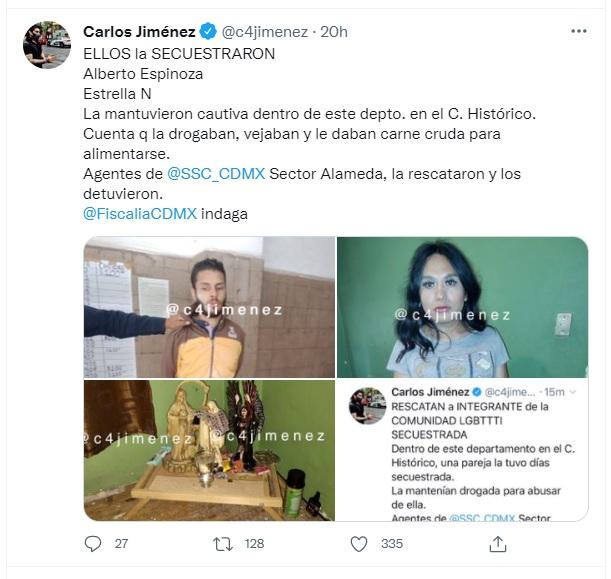 Secuestro de una mujer LGBT+ por parte de una pareja en CDMX