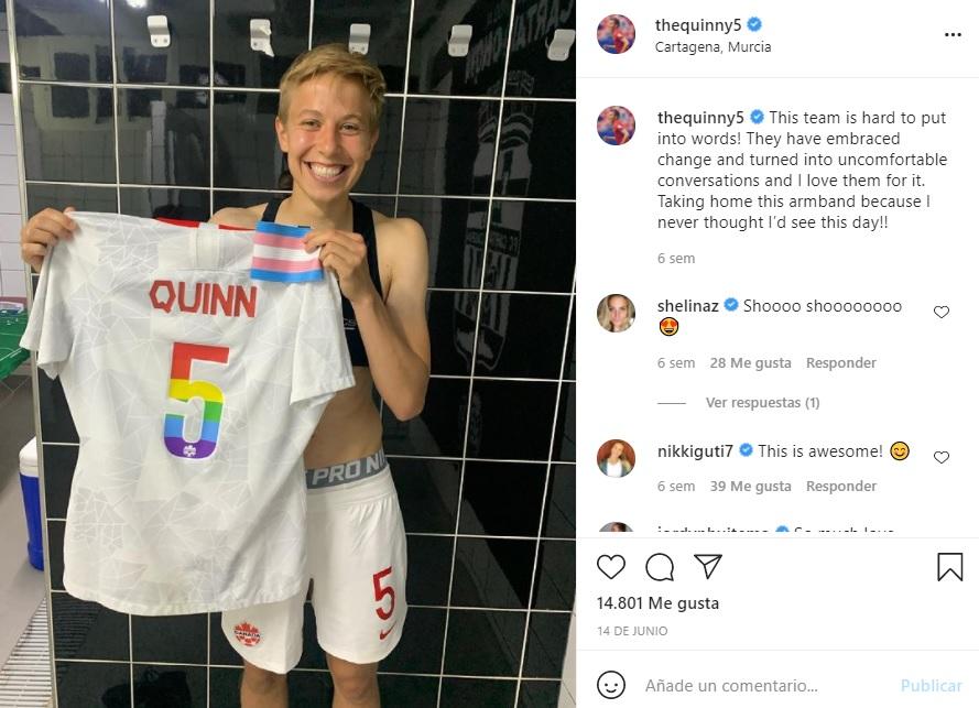 Quinn futbolista trans no binarie