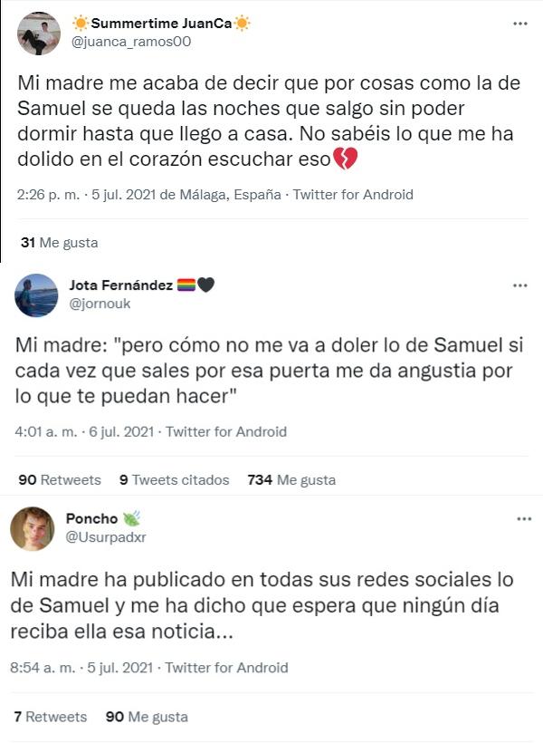 Jóvenes LGBT+ reciben mensajes por asesinato de Samuel Luiz Muñiz