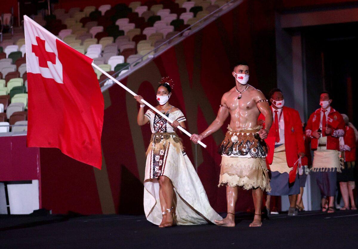 abanderado Tonga Toki ceremonia apertura
