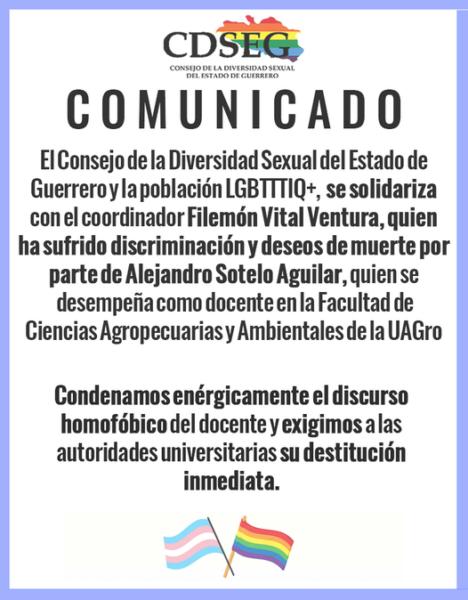 Mensaje de solidaridad con Filemón Vital Ventura