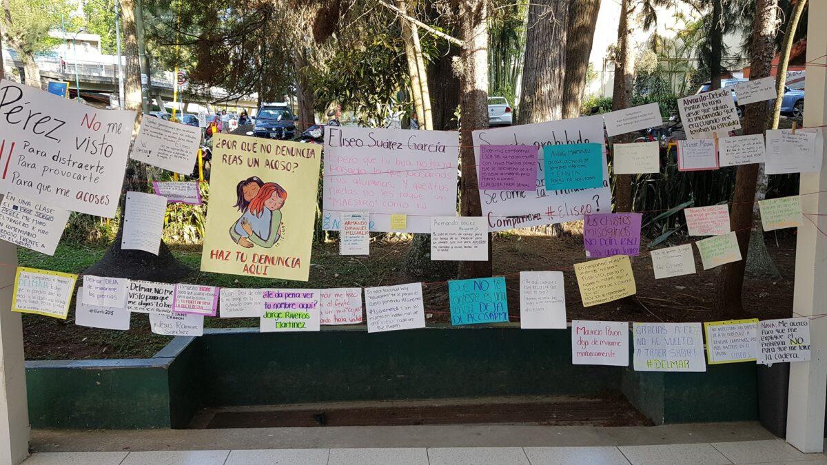 tendedero denuncia acoso Universidad Veracruzana UV Mauricio Pavón misoginia homofobia