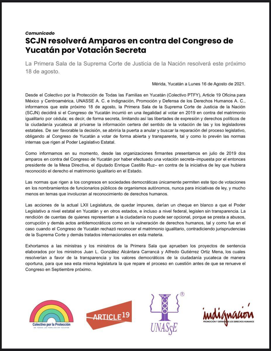amparo colectivo PTF Yucatán SCJN
