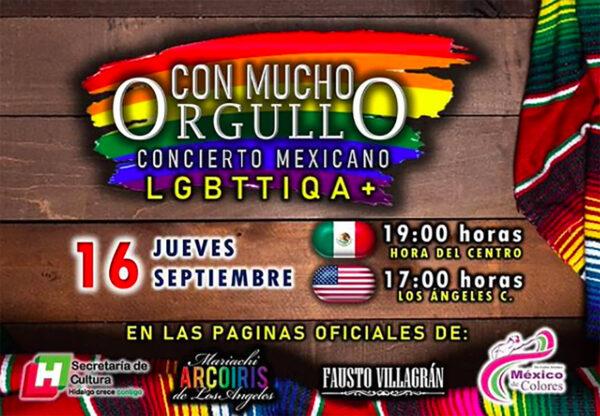 Con mucho Orgullo concierto mexicano LGBT+ gratis online 16 de septiembre 2021