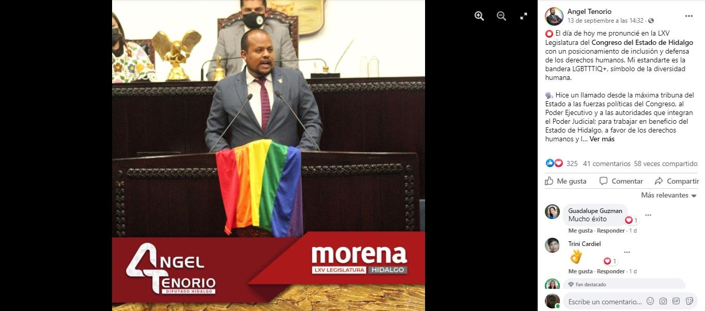 Ángel Tenorio primer diputado gay y lgbt de la historia de Hidalgo