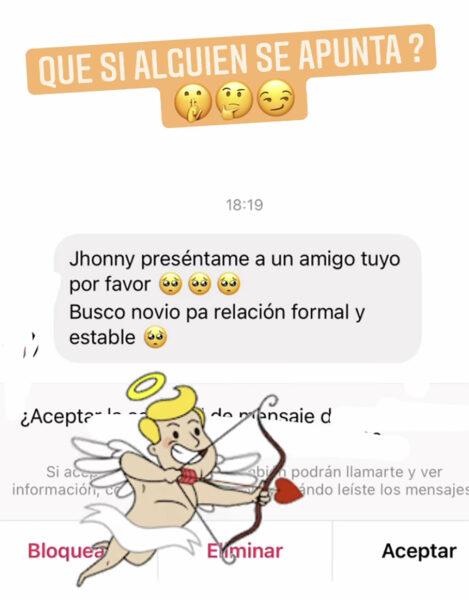 Jhonny Caz fan novio Instagram